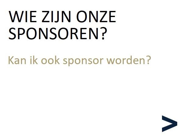Wie zijn onze sponsoren?